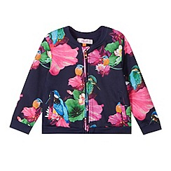Baker by Ted Baker - Girl's navy floral printed jacket