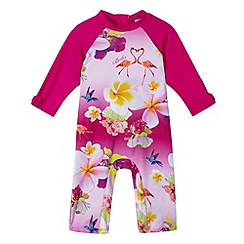 Baker by Ted Baker - Girl's pink ombre floral sunsuit