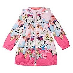 Baker by Ted Baker - Girl's light pink butterfly hooded coat