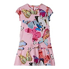 Baker by Ted Baker - Girl's light pink butterfly jersey dress