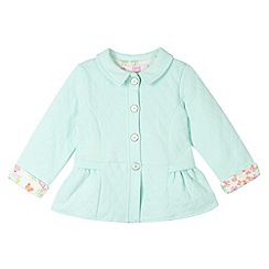 Baker by Ted Baker - Girl's light green quilted sweat coat