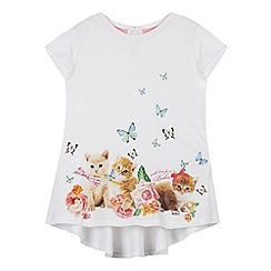 Baker by Ted Baker - Girl's ivory kitten print top