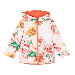 Baker by Ted Baker - Girl's pink floral quilted reverse jacket