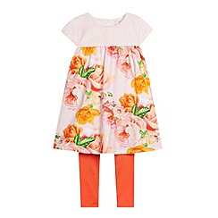 Baker by Ted Baker - Girl's light pink floral dress and leggings set