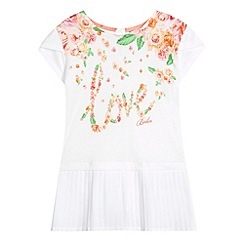 Baker by Ted Baker - Girl's white floral pleat top