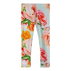 Baker by Ted Baker - Girl's light green rose leggings