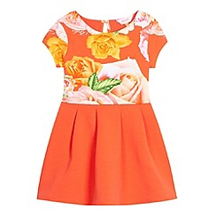 Baker by Ted Baker - Girl's peach rose mock layer dress