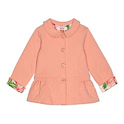 Baker by Ted Baker - Girl's light peach quilted sweat jacket