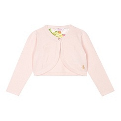 Baker by Ted Baker - Girl's light pink bow cover up cardigan