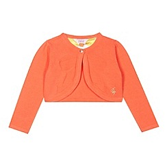 Baker by Ted Baker - Girl's orange bow cover up cardigan