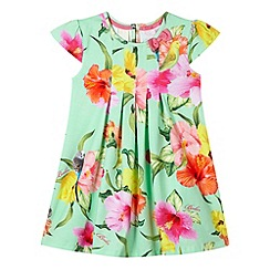 Baker by Ted Baker - Girl's light green parakeet print dress
