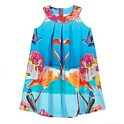 Baker by Ted Baker - Girl's blue mirrored flamingo dress