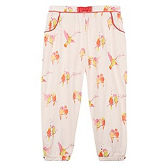 Baker by Ted Baker - Girl's light pink parakeet hareem trousers