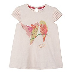 Baker by Ted Baker - Girl's pale pink sequin bird top