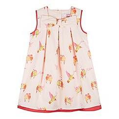 Baker by Ted Baker - Girl's light pink bird print sun dress