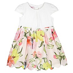 Baker by Ted Baker - Girl's light pink mock 2-in-1 floral skirt dress