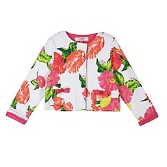Baker by Ted Baker - Girl's off white hibiscus print sweat jacket