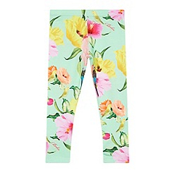 Baker by Ted Baker - Girl's light green parakeet print leggings