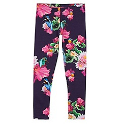 Baker by Ted Baker - Girl's navy floral leggings