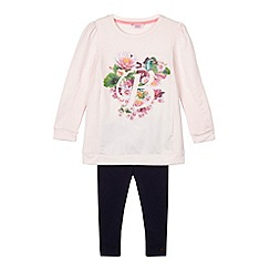 Baker by Ted Baker - Girl's pink sweat top and leggings set