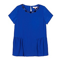 Baker by Ted Baker - Girl's bright blue gem peplum top