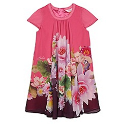 Baker by Ted Baker - Girl's bright pink lotus flower A-line dress
