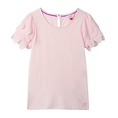 Baker by Ted Baker - Girl's light pink feather sleeve top