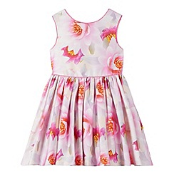 Baker by Ted Baker - Girl's pink graphic floral prom dress