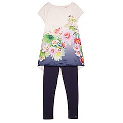 Baker by Ted Baker - Girl's pink floral print tunic and leggings set
