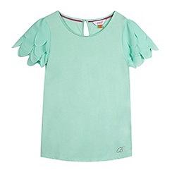 Baker by Ted Baker - Girl's light green scalloped sleeve top