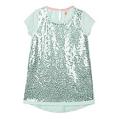 Baker by Ted Baker - Girl's light green sequin jersey top