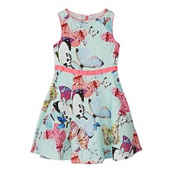 Baker by Ted Baker - Girl's light green butterfly print prom dress