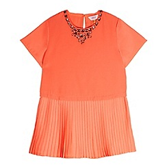 Baker by Ted Baker - Girl's orange gem neck dress