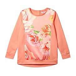 Baker by Ted Baker - Girl's coral rose satin front sweat top