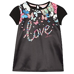 Baker by Ted Baker - Girl's black 'Love' graphic top