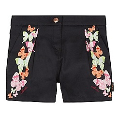 Baker by Ted Baker - Girl's black butterfly print shorts