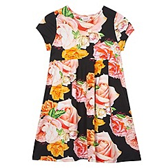 Baker by Ted Baker - Girl's black graphic rose print dress