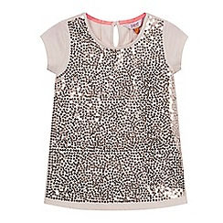 Baker by Ted Baker - Girl's light pink sequin jersey top