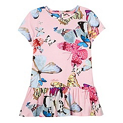 Baker by Ted Baker - Girl's light pink butterfly peplum top