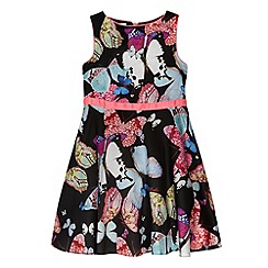 Baker by Ted Baker - Girl's black butterfly print dress