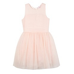 Baker by Ted Baker - Girl's pale pink mesh skirt dress