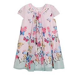 Baker by Ted Baker - Girl's pink butterfly print dress
