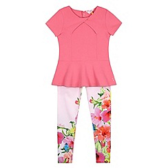 Baker by Ted Baker - Girl's pink tunic and leggings set