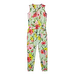 Baker by Ted Baker - Girl's light green parakeet print jumpsuit