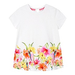 Baker by Ted Baker - Girl's white hibiscus hem t-shirt