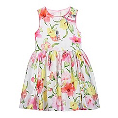Baker by Ted Baker - Girl's white hibiscus prom dress