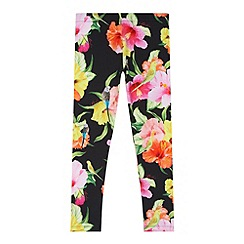 Baker by Ted Baker - Girl's black hibiscus leggings