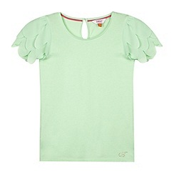 Baker by Ted Baker - Girl's light green feather sleeve top