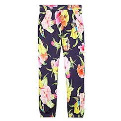 Baker by Ted Baker - Girl's navy floral harem pants