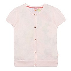 Baker by Ted Baker - Girl's light pink satin back cardigan